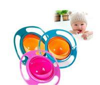 Wholesale Baby Spill Rotating Bowl - Baby Kids Non Spill Feeding Toddler Gyro Bowl 360 Rotating Avoid Food Spilling