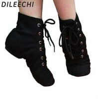 Wholesale TOP Sneakers DILEECHI women s Jazz shoes soft sole Red Black White canvas flat heel