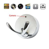 1280 * 720 HD Spy Clothes Hook Camera Clothe Hanger Câmera escondida com detecção de movimento Mini DVR Video Recorder Pinhole Cam Security