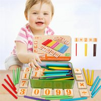 Wholesale Children s wooden mathematics puzzle toy as a gift toddler mathematical calculator game toys Children learning and education math toy