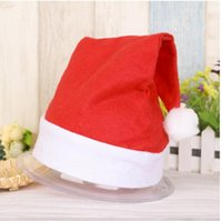Wholesale summer santa claus costume for sale - Group buy Xmas Official Plush Santa Claus Hat Comfort Liner Christmas Halloween festival Costume New Year Decoration Christmas Decoration Cloth Hats