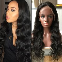 Wholesale 360 Lace Frontal Wig Pre Plucked Body Wave Brazilian Virgin Full Lace Wigs Human Hair x4x2 Lace Wigs For Black Women