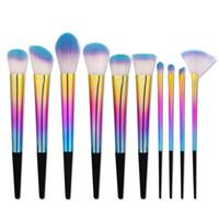 Wholesale make up kits glitter eye shadow resale online - 5 Kakuki Makeup Brushes Kit Bright Glitter Color Make Up Brush Tools Powder Eye shadow Foundation Blush Cosmetic Beauty Tool