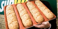 Wholesale Silicone Bake Forms - Subway Silicone Fiber Glass Bread Form Pans Silform Non-Stick Perforated Baking Mold for Sub Rolls 4 Loaf Baguette Tray