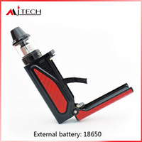 blue fills with best reviews - Authentic Mjtech Tomahawk 80W starter kits 18650 Vape Mod and 2ml 510 Thread Bottom Airflow Top Filling X9 Tank 100% ecig vape pens