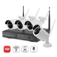 Wholesale Home Video Surveillance Systems Wireless - YSCAM Plug & Play Wireless 4CH CCTV Camera System P2P Wireless NVR & IP Camera 720P Outdoor Bullet Wifi Surveillance System
