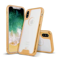 Wholesale Heavy Duty Hybrid Shock - clear Transparent anti-shock hybrid combo heavy duty case cover skin for iPhone 8 fashion luxury case