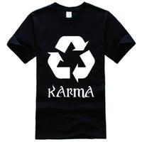 Wholesale Recycling Shirts - Karma Recycle Tee Shirt Unisex fashion women men short sleeve funny shirt 6 size