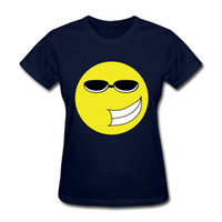 Wholesale Women Humor Shirt - 2017 Best Sell T-shirts Wearing Sunglasses Humor Expression Devise Short Sleeve T-shirts 100% Pure Cotton Women's T-shirts
