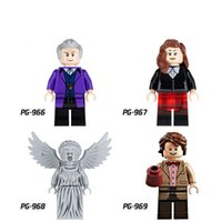 Wholesale Dr Toys - Building Blocks Minifigures Action Bricks Doctor Who Dr Assistant The Weeping Angels Kids Christmas Gift DIY Toys 4pcs set PG8038