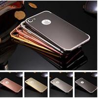 Wholesale Detachable Bumper Case Iphone - For Iphone 7 Detachable Metal Aluminium Bumper Mirror Phone Case Cover For Iphone 7 Plus 6S Plus 6S Samsung S7 Edge S7 S6 Edge S6 J3 J5 J7