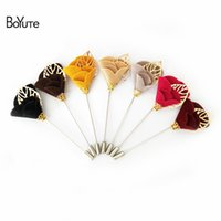 Wholesale Mixed Brooches For Sale - BoYuTe 10Pcs HOT sale Mix Colors Flower Rose Brooch Wholesale Fashion faddish Men Brooch for Suit