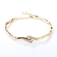 18 k beyaz altın 18 zincir toptan satış-Vintage Moda Yaz Plaj Halhal Bilezik Infinity Ayak Takı 18 K Sarı / Beyaz Altın Kaplama Zincir Halhal Ayak Zinciri Kadınlar için JL0007