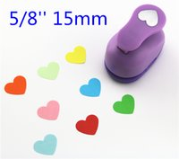 Wholesale Paper Punch Heart - Wholesale- free ship heart paper punch 15mm 5 8'' shapes craft punch diy puncher paper cutter scrapbooking punches scrapbook S29874