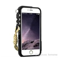 Wholesale Iphone Trigger Case - Trigger Bumper Case For iPhone 6 Plus 5 5S with Lanyard 4th Design Tactical Edition 1:1 Shockproof Aluminum Metal Phone Frame Cover