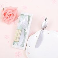 cuchillo para moldear pasteles al por mayor-Forma de hoja Cake Pollisher Cream Cuchillos Aleación Herramientas prácticas Delicate Box Packing Estilo Europeo Creative Wedding Pequeño Regalo 3lw F R