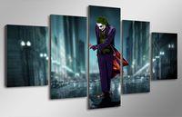 Wholesale Roman Posters - 5Pcs Set HD Printed The Movie Joker art Painting Canvas Print room decor print poster picture canvas roman print