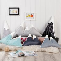 Wholesale Digital Printed Cotton Fabric - Pillow Mountains Child Toy Cushion Nordic Style Snow Mountain Decorative Pillows Digital Multifunction Shaped Cushions Cartoon Printed 32hm