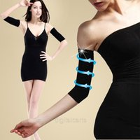 Wholesale Wholesale Weight Loss Wraps - Womens Slim Weight Loss Arm Shaper Fat Buster off Cellulite Belt Wrap Band D_L (Size: One Size, Color: Black)