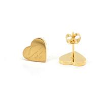 ingrosso gioielli per timbri-Orecchino a cuore in oro rosa da donna in acciaio inossidabile