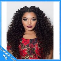 Wholesale Cheap Long Synthetic Hair Wigs - cosplay wig cheap long black synthetic afro kinky curly lace front wigs hairstyles for curly hair synthetic wigs for black women