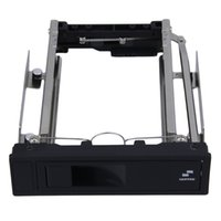 """Wholesale Hard Disk Rack - Wholesale- 1pc Tool Free 5.25-Inch CD-ROM Space HDD Frame Mobile Rack Converter Enclosure for PC Case,fit 3.5"""" SATA Hard Drive Disk instal"""