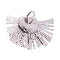 herramientas clave cerrajero al por mayor-KLOM Warded Pick Set (40 llaves) Ward Lock Keys Warded Lock Llave esqueleto Warved Keys Herramientas de desbloqueo para cerrajeros profesionales