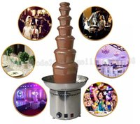 Wholesale fondue chocolate - Fashion Commercial 7 Tiers Electric Chocolate Fountain Fondue Maker Adjustable Luxury Stainless Steel 43x103cm for Wedding Party Hotel MYY