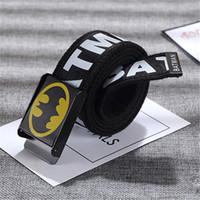 batman tokaları toptan satış-Erkekler için 2017 Batman Toka Tuval Kemer Açık Spor Erkekler Kemer Askeri Taktik Kemer Fabrika Toptan