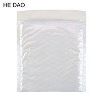 Atacado- 10 Pcs / Pack, 160 * 160MM Pearl Film Bubble Envelope Courier Bags Waterproof White Mailing Bag Packaging