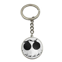 Wholesale Best Deals Wholesale Jewelry - 10 Style Nightmare Before Christmas Anime Glass Photo Keychains Jewelry Steampunk Skull Body Statement Best Friend Weekend Deal NS62