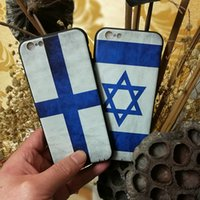 Wholesale Iphone Flag Back Covers - For IPhone 6 plus 6splus Soft TPU USA UK Finland Antique Case Country Retro National Flag Back Cover Cases