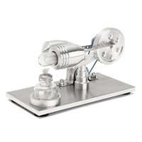 Wholesale Hot Engine - Wholesale- New Arrival Stainless steel Mini Hot Air Stirling Engine Motor Model Educational Toy Science Experiment Kit Set For Chuldren