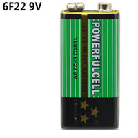 Wholesale 9v 6f22 Alkaline Battery - Super 6F22 Alkaline Battery 9V Low Consumption Laminated Carbon Batteries for Smoke Alarm Multimete Microphone Ultra Long Life