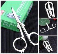 Wholesale Shredding Paper Scissors - Silver Tone Paper String Craft Shred Scissors EDC Keychain Tool Travel Essential Collapsible Medium Trip Scissors C128Q