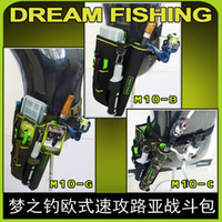 Wholesale Lure Bags - Wholesale- Cool High quality fishing bag Multi-Purpose fishing rod bag Canvas material perfect for lure fising Fishing too