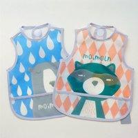 Wholesale Cartoon Wear New Cloth - Wholesale- 0-4Y Baby Clothes Girls Boys Cartoon Raindrop Fox Pattern Bibs Toddler Waterproof Baberos Burp Cloths 2016 New Summer Wear