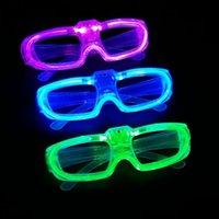 óculos de fluorescência venda por atacado-Novo Levou Frio Óculos de Luz EL Fio Brilhante Piscando Óculos Fluorescence Partido Óculos DJ Festa de Natal Feriado Adereços