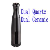 frigideira de vapor venda por atacado-Top Skillet 2 Vaporizador Kit @Puffco pro Dual Quartz Rod câmara de Cerâmica dual Coils cerâmica Wax Erva seca atomizador caneta de vapor de ervas cigs