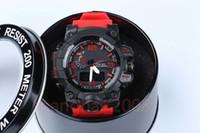 promoções de relógio de pulso venda por atacado-Relógios Promoção Hardlex Nova Chegada de Plástico Unisex relógios do exército, GWG LED cronógrafo relógio de pulso, relógio militar com caixa de embarque queda