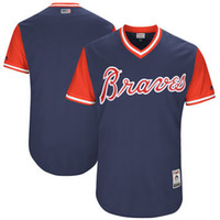 4a4ce6ed860 Baseball Jerseys Mlb Sports Atlanta Braves Majestic Navy 2017 Players  Weekend Authentic Team Jersey Throwback Cheap Custom Fashion Men Youth ...