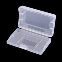 Wholesale Gba Free Shipping - Hard Clear Plastic Case Transparent Game Cartridge Cases Storage Box Protector for GameBoy Advance GBA Game Cards Cartridge FREE SHIPPING