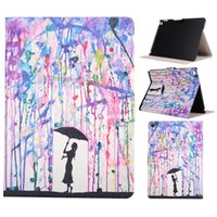 """Wholesale Artistic Luxury - Luxury Colorful Artistic Graffiti Case For iPad Pro 12.9""""Colored Drawing Leather Flip Holder Stand Cover For iPad Colorful Printing"""