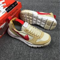 Wholesale Natural Flat Shoes - New Released Tom Sachs Craft TS NASA 2.0 Shoes AA2261-100 Natural Sport Red-Maple Tom Sachs Ybca Sneakers With Oringal Box