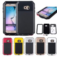 Wholesale New Life Covers - 2017 NEW Arrival Heavy Duty Armor Aluminum Metal Shockproof Life Waterproof Cover Case For Samsung Galaxy S3 4 S5 S6 S6edge S7 Edge Note 5