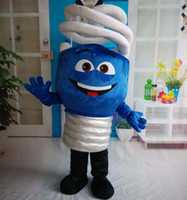 Wholesale Energy Costumes - SX0723 100% real photos of Energy-saving Lamp mascot efficient lightbulb costume for adult to wear for sale