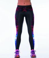Wholesale Galaxy Printed Leggings Sizes - Wholesale- New Galaxy Purple Printing Women Fitness 3XL Sport Pants Free Size Blue Galaxy Running Sport Leggings 3 Patterns LOVE SPARK