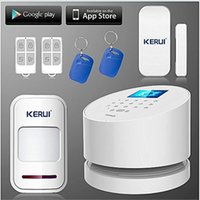 Wholesale 99 zones gsm online - LS111 KERUI WIFI alarm WIFI GSM PSTN Three in one Alarm System Low battery Indication inch TFT color display wireless zones App
