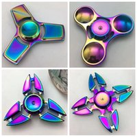 Wholesale Metallic Claws - Hand Spinner EDC Hand Fidget Spinner Fingertip Gyro Magic Anti-Anxiety Anxiety Toy Intelligence Metal Aluminum Crab Claw Leaf Metallic +Box
