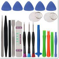 kit-tab großhandel-2017 neue design 20 in 1 handy Reparatur Pry Tool Kit Öffnungswerkzeuge Star Torx Pentalobe Schraubendreher für iPhone 7 7 plus ipad galaxy tab 3.0